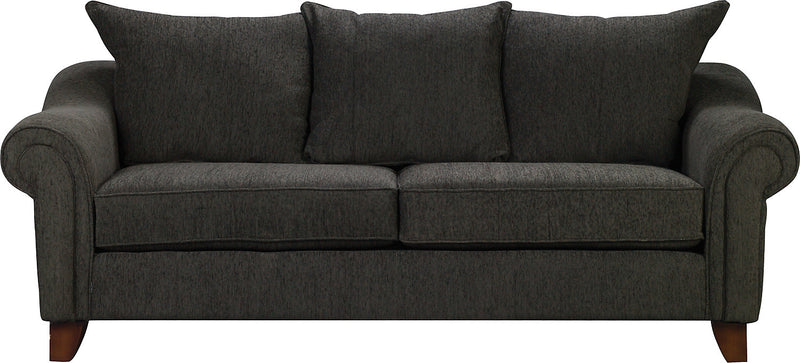 Reese Chenille Queen Sofa Bed – Dark Grey|Grand sofa-lit Reese - gris foncé