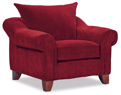 Reese Chenille Chair – Red - Contemporary style Chair in Red