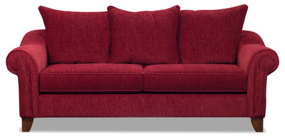 Reese Chenille Queen Sofa Bed – Red|Grand sofa-lit Reese en chenille - rouge|REESERQSB