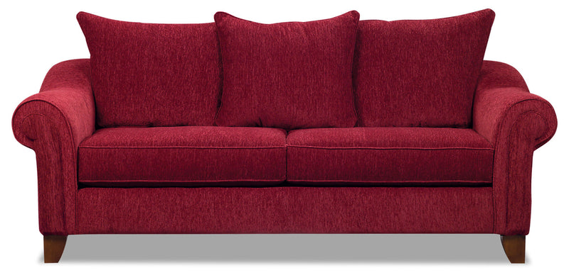 Reese Chenille Queen Sofa Bed – Red|Grand sofa-lit Reese en chenille - rouge