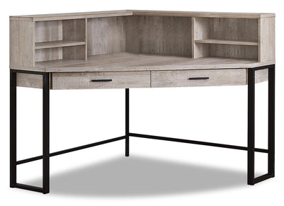 Reese Corner Desk - Taupe|Bureau en coin Reese - taupe|REETPDSK