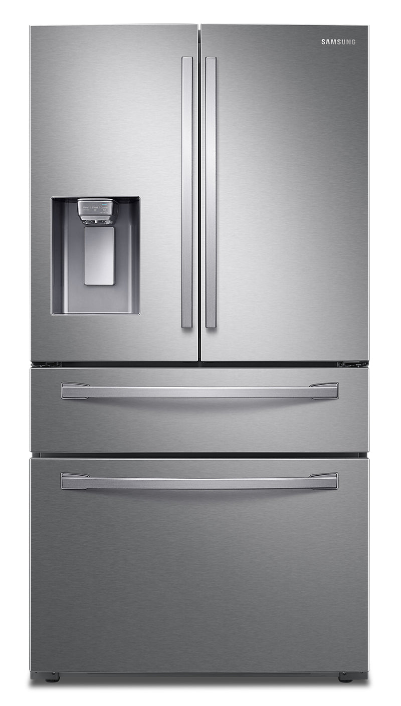Samsung 23 Cu. Ft. 4-Door Counter-Depth French-Door Refrigerator - RF24R7201SR/AA - Refrigerator in Stainless Steel
