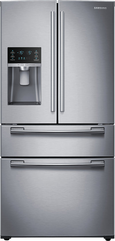 Samsung 25 Cu. Ft. French Door Bottom-Mount Refrigerator – RF25HMEDBSR/AA - Refrigerator in Stainless Steel