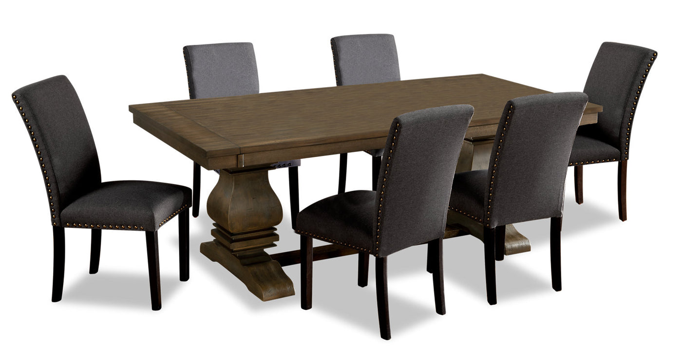 Rhys 7-Piece Dining Package - Grey