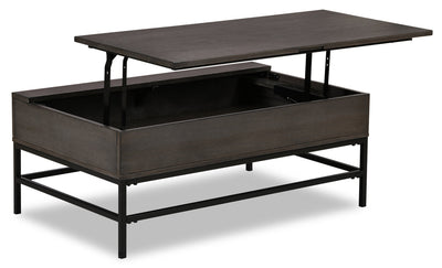 Rico Coffee Table with Lift-Top - {Retro}, {Industrial} style Coffee Table in Grey
