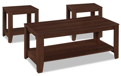 Rory 3-Piece Coffee and Two End Tables Package - Cherry