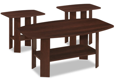 Rosario 3-Piece Coffee and Two End Tables Package - Cherry