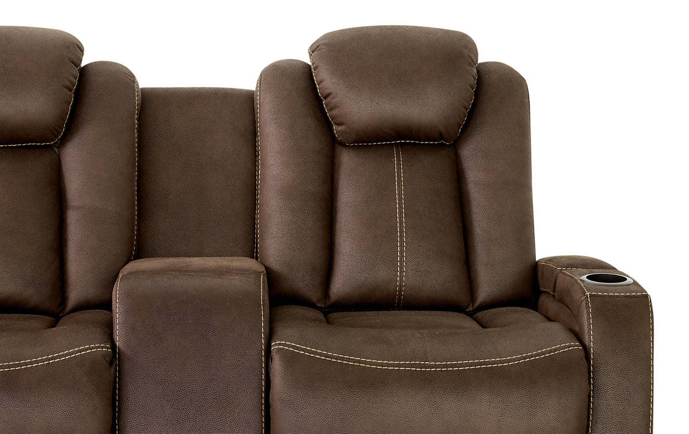 Admirable Ross Faux Suede Power Reclining Loveseat Chocolate Gmtry Best Dining Table And Chair Ideas Images Gmtryco