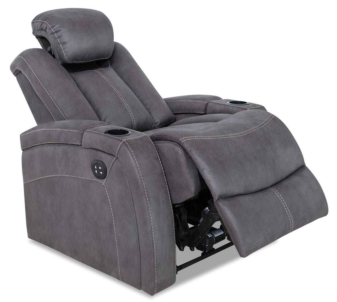 Surprising Ross Faux Suede Power Reclining Chair Pewter Ibusinesslaw Wood Chair Design Ideas Ibusinesslaworg