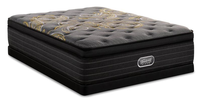 Beautyrest Black Republic Ultra Eurotop Low-Profile Queen Mattress Set|Ensemble matelas à Euro-plateau épais à profil bas Rpublic Beautyrest BlackMD pour grand lit