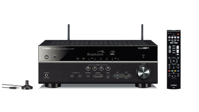 Yamaha Canada Music Receiver - Yamaha RX-V485BL 5.1-Channel 4K Ultra HD AV Receiver with Wi-Fi Bluetooth and MusicCast