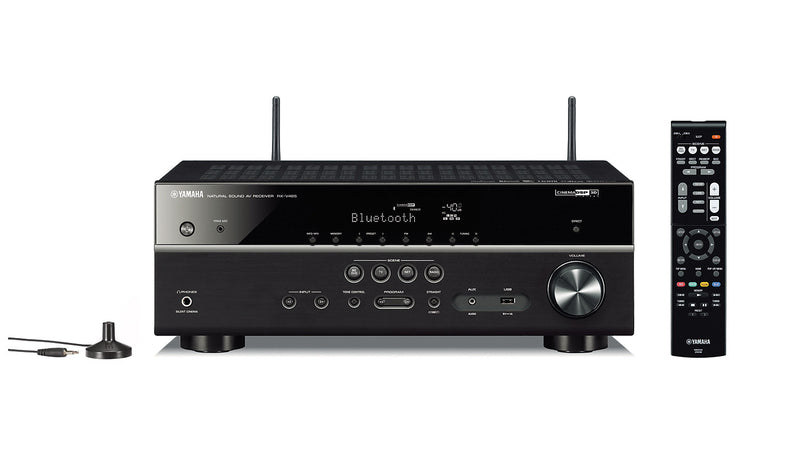 Yamaha RX-V485BL 5.1-Channel 4K Ultra HD AV Receiver with Wi-Fi Bluetooth and MusicCast. Works with Alexa|Récepteur AV Yamaha RX-V485 à 5.1 canaux|RXV485AV