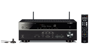 Yamaha Canada Music Receiver - Yamaha RX-V585 7.2-Channel 4K Ultra HD AV Receiver, Wi-Fi Bluetooth and MusicCast. Works with Alexa