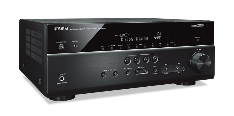 Yamaha RX-V685BL 7.2-Channel 4K Ultra HD AV Receiver with Wi-Fi Bluetooth and MusicCast. Works with Alexa| Récepteur AV Yamaha RX-V685 à 7.2 canaux|RXV685AV