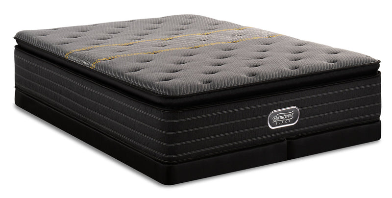 Beautyrest Black Substance Hi-Loft Pillowtop Low-Profile Split Queen Mattress Set|Ensemble à plateau-coussin épais divisé à profil bas Substance Beautyrest BlackMD pour grand lit|SBSTLSQP