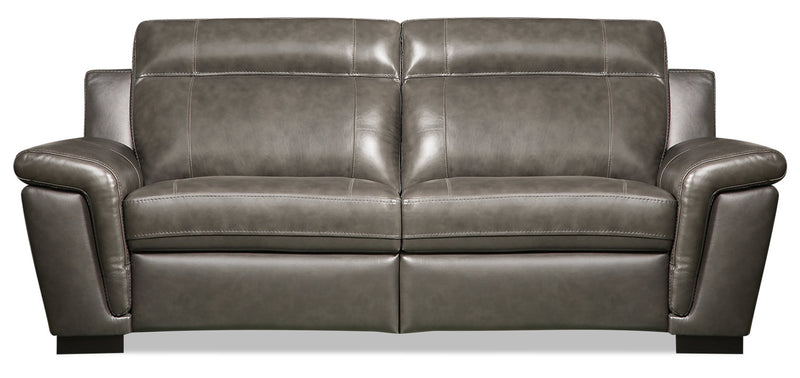 Seth Genuine Leather Sofa - Grey|Sofa Seth en cuir véritable - gris|SETH2GSF