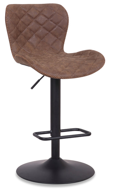 Seth Bar Stool - Brown - {Modern} style Bar Stool in Brown {Metal}