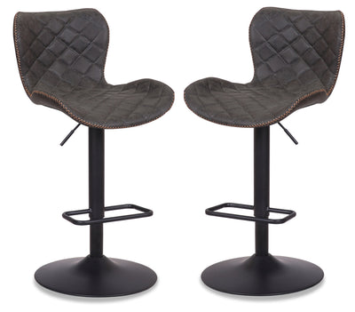 Seth Bar Stool, Set of 2 - Grey - {Modern} style Bar Stool in Grey {Metal}