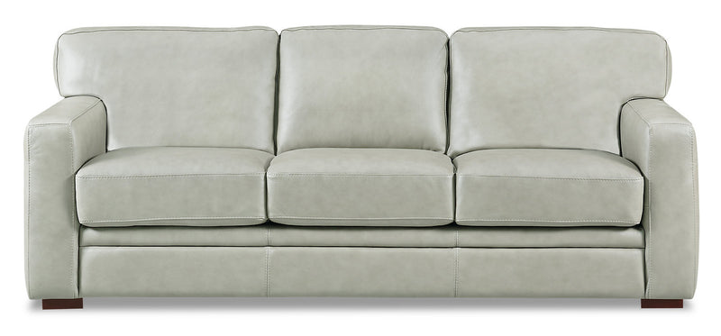 Shaw 100% Genuine Leather Sofa - Smoke|Sofa Shaw en cuir 100 % véritable - fumée