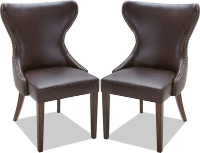 Shea Dining Chair, Set of 2 – Brown|Chaise de salle à manger Shea, ensemble de 2 – brune|SHEACDSP