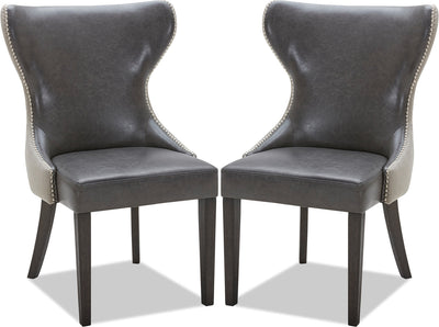 Shea Dining Chair, Set of 2 – Grey|Chaise de salle à manger Shea, ensemble de 2 – grise|SHEAGDSP