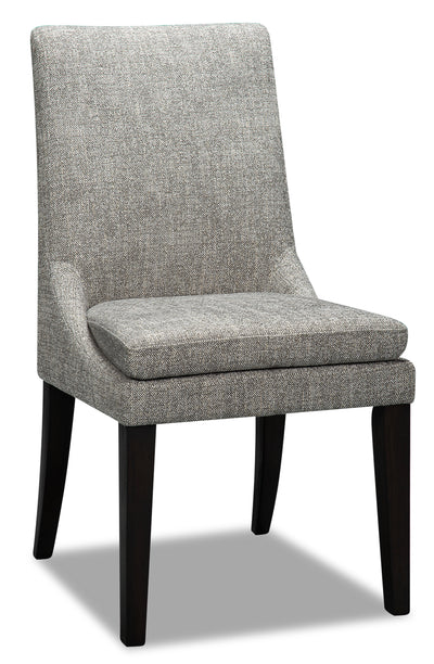 Shilo Dining Chair - Grey - {Modern} style Dining Chair in Dark Grey {Solid Woods}