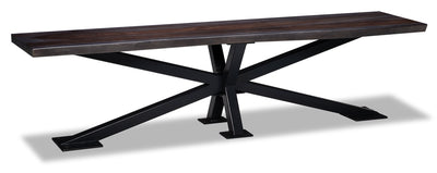 Shilo Dining Bench - {Modern} style Dining Bench in Dark Grey {Solid Woods}