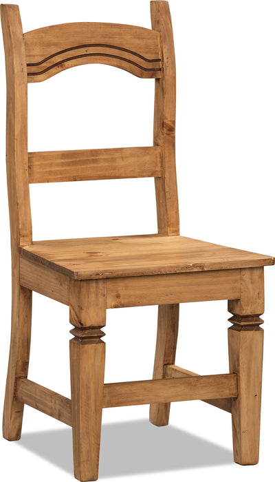 Santa Fe Rusticos Solid Pine Dining Chair - Rustic style Dining Chair in Pine