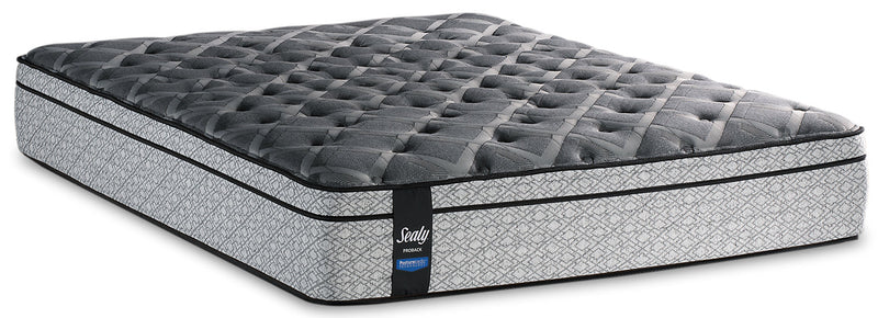 Sealy Posturepedic Proback Silversea Eurotop Twin XL Mattress|Matelas à Euro-plateau Silversea PosturepedicMD PROBACKMD de Sealy pour lit simple très long