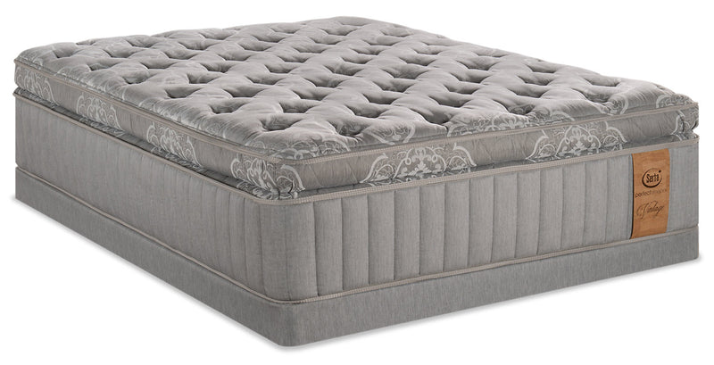 Serta Perfect Sleeper Vintage Sonoma Super Pillowtop Low-Profile Queen Mattress Set|Ensemble à plateau-coussin épais à profil bas Sonoma Vintage Perfect SleeperMD Serta pour grand lit