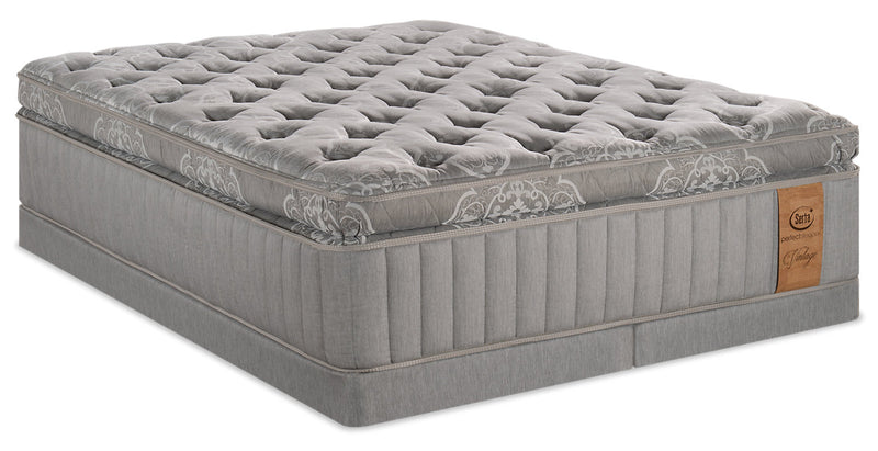 Serta Perfect Sleeper Vintage Sonoma Super Pillowtop Low-Profile King Mattress Set|Ensemble plateau-coussin épais profil bas Sonoma Vintage Perfect SleeperMD Serta pour très grand lit