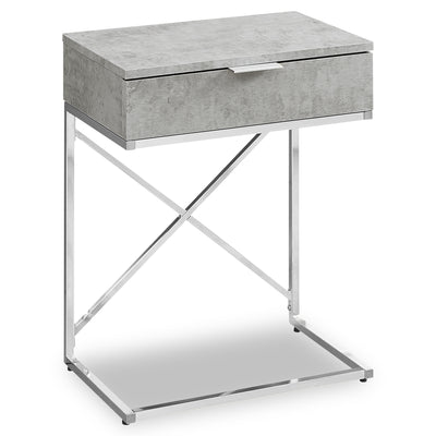 Spain Grey Accent Table - {Contemporary}, {Industrial}, {Modern}, {Retro} style End Table {Medium Density Fibreboard (MDF)}