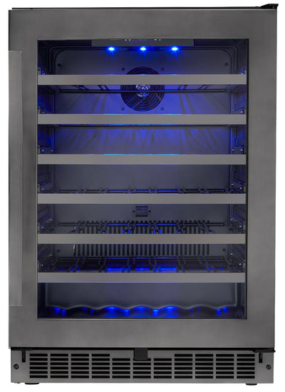 Danby 5.6 Cu. Ft. Black Stainless Steel Wine Cooler – SSWC056D1B-S - Refrigerator in Black Stainless Steel