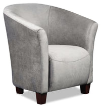 Tub-Style Velvet Accent Chair - Grey