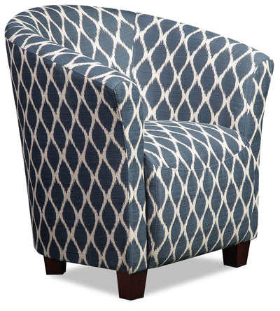 Tub-Style Fabric Accent Chair - Dakota Indigo - {Contemporary} style Accent Chair in Dakota Indigo {Plywood}, {Solid Woods}