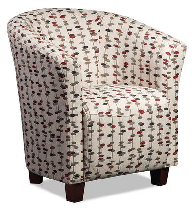 Tub-Style Fabric Accent Chair - Martini Metro - {Contemporary} style Accent Chair in Martini Metro {Plywood}, {Solid Woods}
