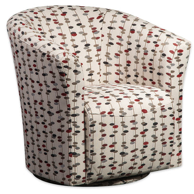 Tub-Style Fabric Swivel Accent Chair - Martini Metro