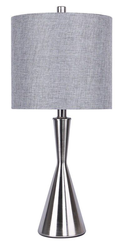 "Brushed Nickel 23"" Table Lamp