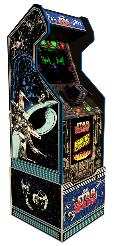 Arcade1Up Star Wars™ Arcade Cabinet with Riser|Borne de jeu Arcade1Up Star WarsMD avec plateforme.
