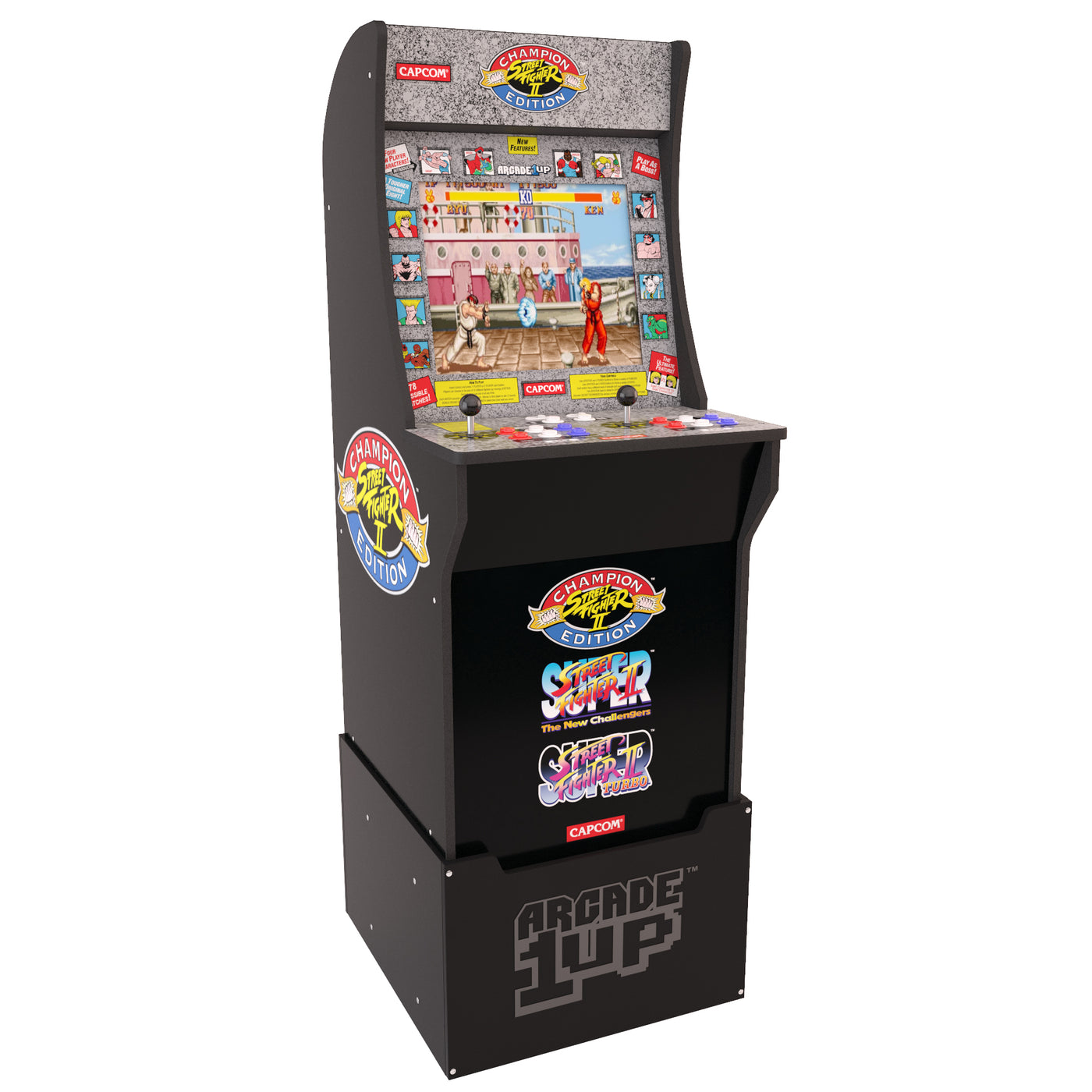 Arcade1up Street Fighter Arcade Cabinet With Riser The Brick