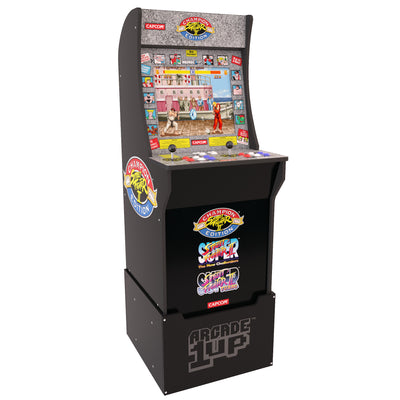 Arcade1Up Street Fighter™ Arcade Cabinet with Riser|Borne de jeu Arcade1Up Street FighterMD avec plateforme|STREETPK