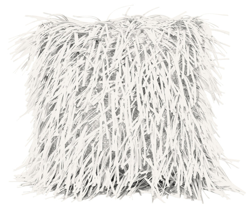 "Stringy 16"" Decorative Pillow - Ivory