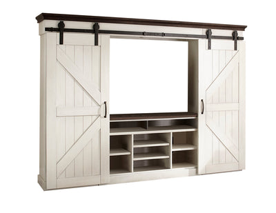"Sydney Barn-Door 6-Piece Entertainment Centre with 55"" TV Opening"