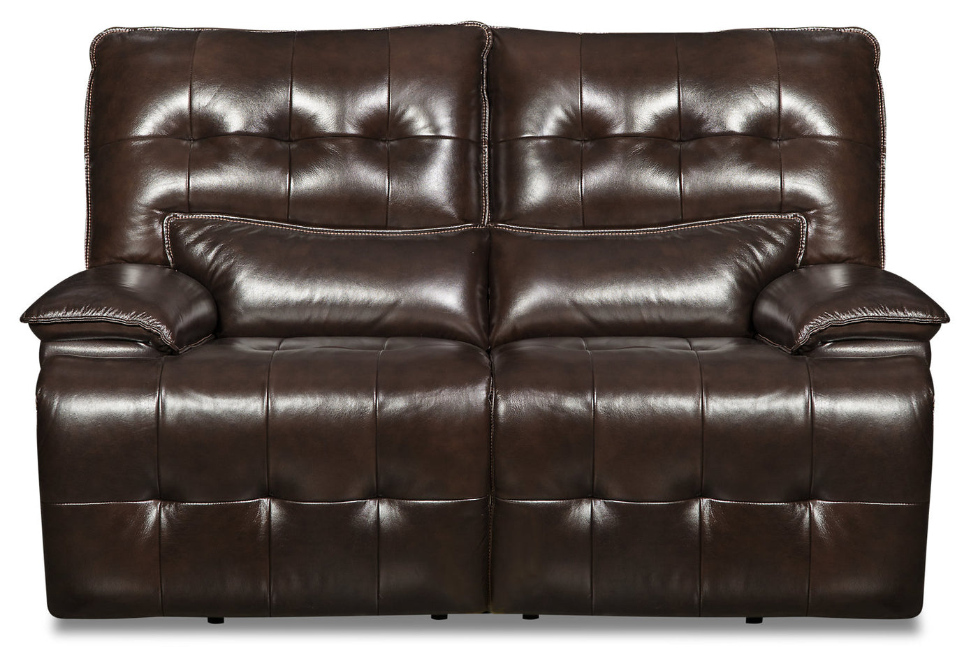 Swell Taja Genuine Leather Power Reclining Loveseat With Power Headrest Brown Beatyapartments Chair Design Images Beatyapartmentscom