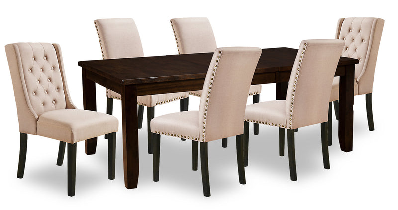 Talia 7-Piece Dining Package - Taupe|Ensemble de salle à manger Talia 7 pièces - taupe|TALYKWP7