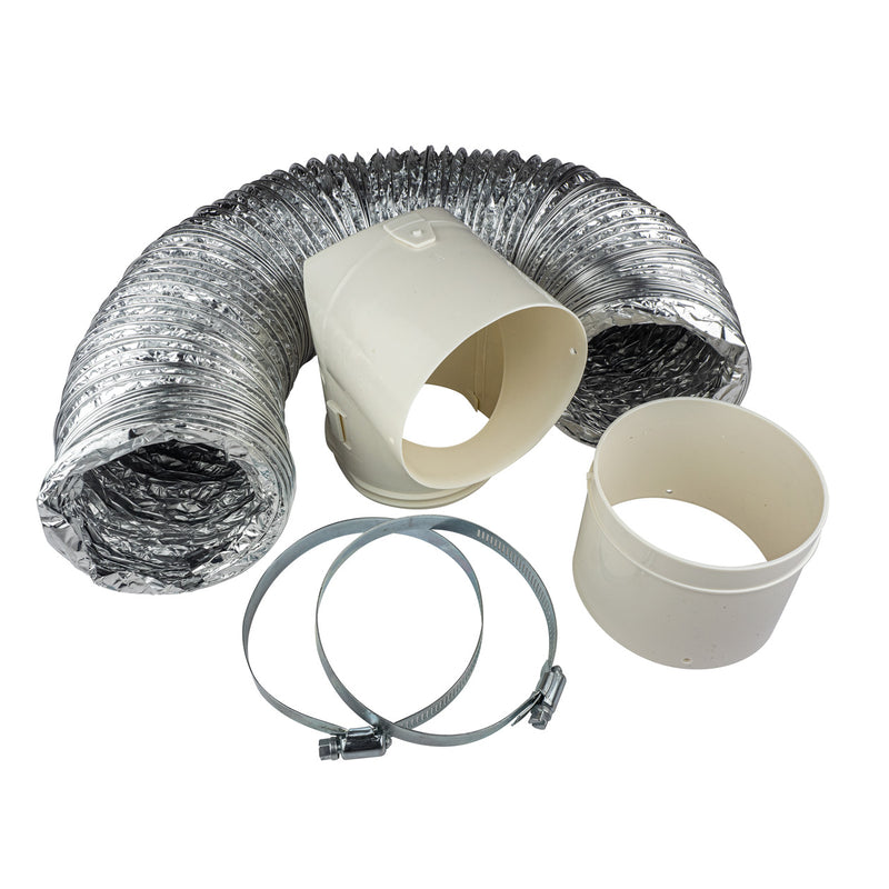 "Dundas Jafine ProFlex™ Dryer-to-Duct Connector Kit and 4"" Metal Worm Gear Clamps Package"