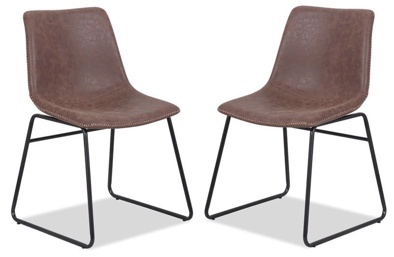 Tess Dining Chair, Set of 2 - Brown|Chaise de salle à manger Tess, ensemble de 2 - brune|TESSCDSP