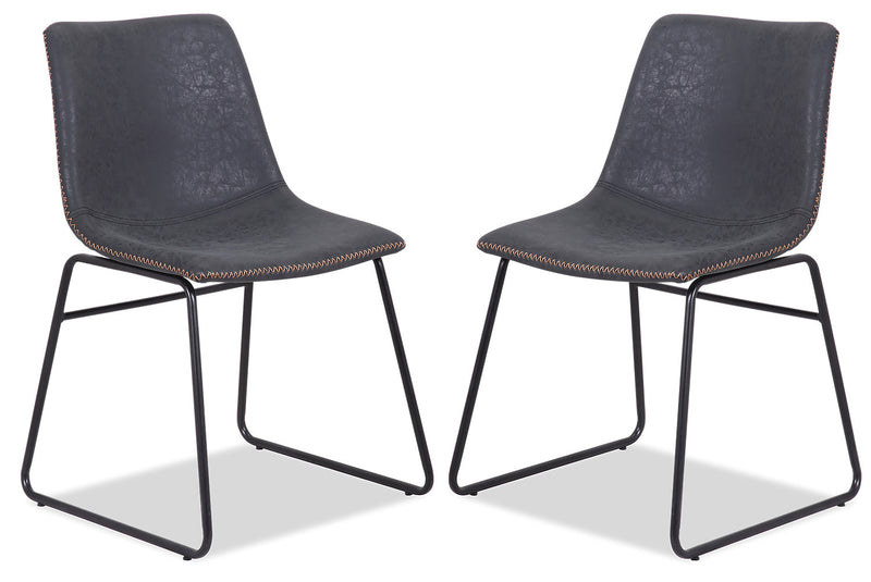Tess Dining Chair, Set of 2 - Grey|Chaise de salle à manger Tess, ensemble de 2 - grise|TESSGDSP