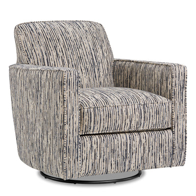 Thea Chenille Swivel Accent Chair - Local Colour Steel|Fauteuil d'appoint pivotant Thea en chenille - acier couleur locale|THEASTAC