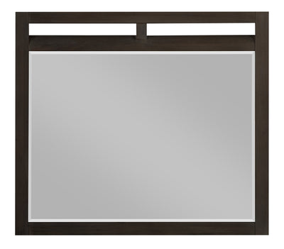 Theo Mirror - Charcoal - {Modern} style Mirror in Charcoal {Poplar}, {Oak}